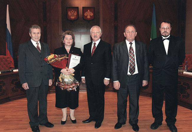 Лауреаты премий правительства РК 2009 г. с Главой РК