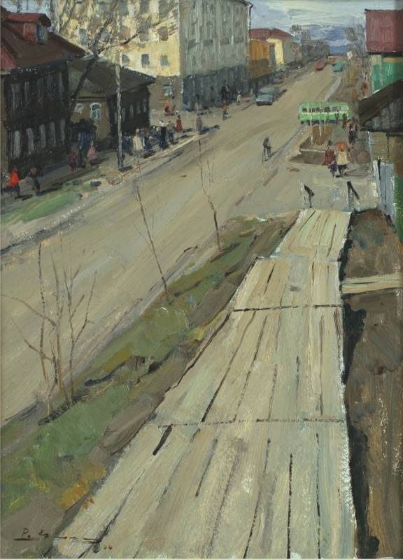 Ермолин Р.Н. Улица в Сыктывкаре. 1964 г.