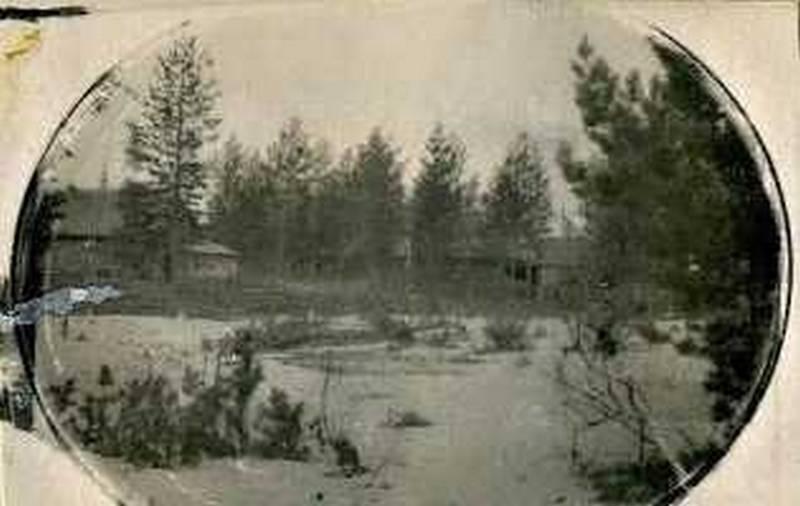 Дома близь начала улицы Куратова у реки. на ул. Береговой Конец 40-х гг.
