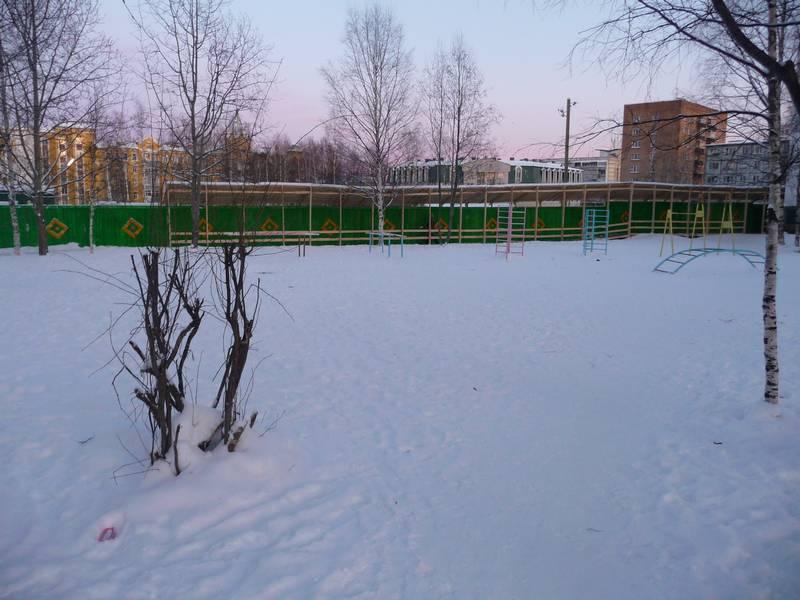 Вид со двора шк. №12 в сторону ул. Ленина. 2011 г.