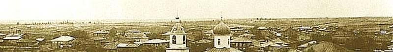 Окраина города. Пусто на совр. ул. К.Маркса, Юхнина и далее. Вид с Стефановского собора.