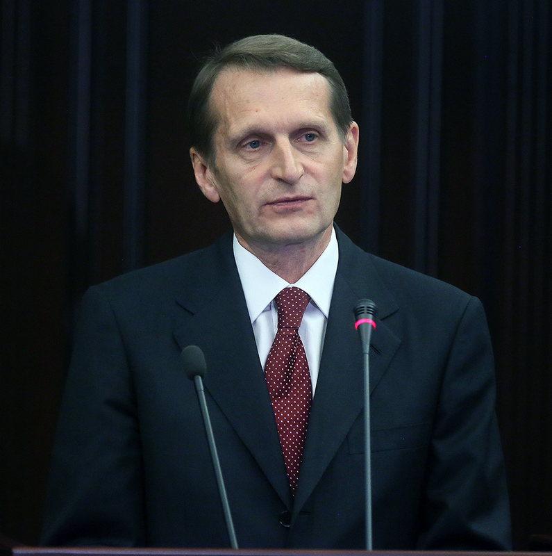 С.Е.Нарышкин выступает на Общем собрании РИО