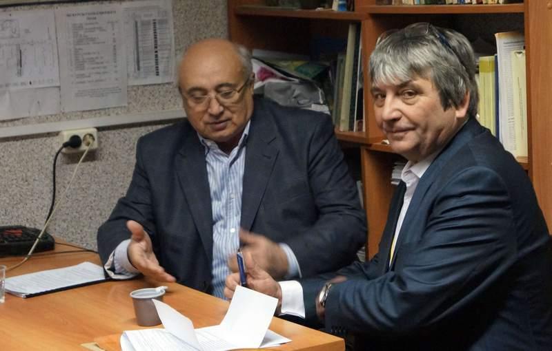 Х.А. Амирханов и П.Ю Павлов - председатели секции