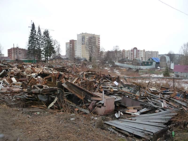 Руины деревянного Сыктывкара