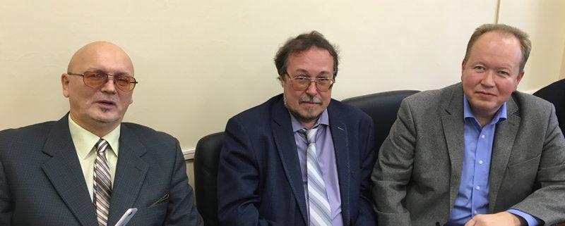 Члены бюро ОУС по гуманитарным наукам УрО РАН: д.и.н.А.В.Сперанский, д.и.н.И.Л.Жеребцов, д.и.н. А.Е.Загребин