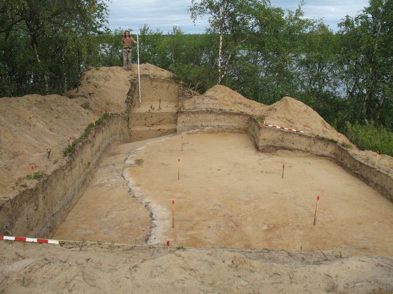 Раскоп после завершения работ
