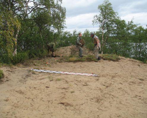 Рекультивация поверхности на месте раскопок