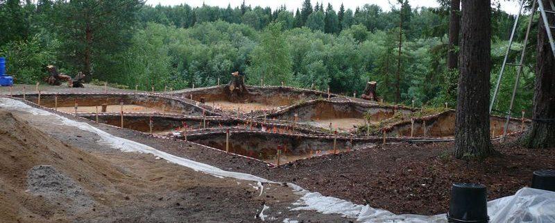 Вид на раскоп