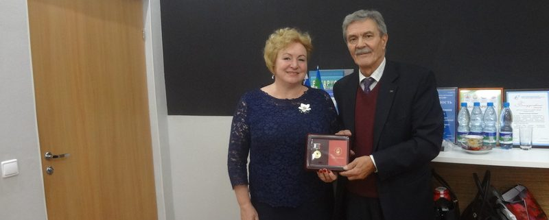 А.А.Попова наградили юбилейной медалью