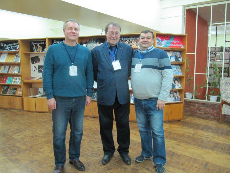 Слева направо В.И.Меньковский,И.Л.Жеребцов и М. Шмигель